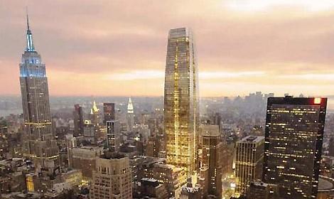 nuovo grattacielo a new york viaggiatori e turisti
