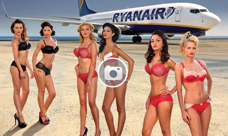hostess,bikini,ryanair,calendario 2012